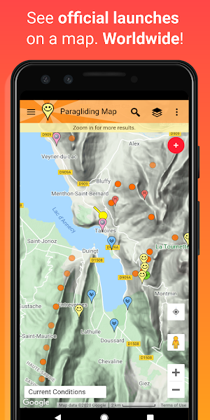 Paragliding Map