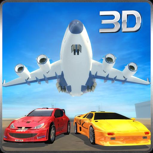 模拟のレースカートランスポーター飛行機 LOGO-記事Game
