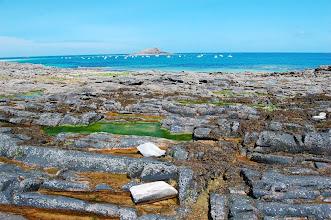 """Photo: BRETANYA 2013. ERQUY."""" Pointe du Champ du Port """" i l'illot de """" St Michel""""."""