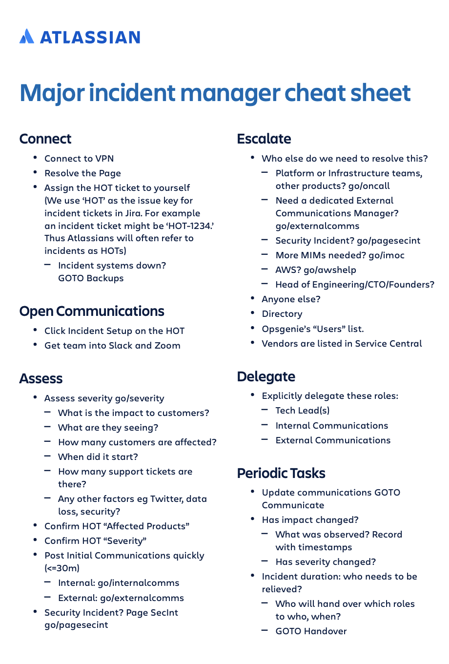 All the required information about malware, phishing, sql injection that you need to know before you start with your planning. How To Create An Incident Response Playbook Work Life By Atlassian