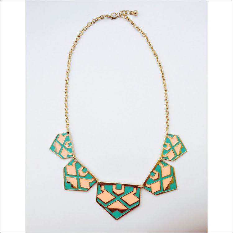 N039 - M. Springy Colorplate Necklace by House of LaBelleD.