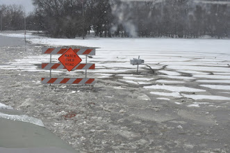 Photo: Many roads were overcome with water during Flood Fight 2009 in Moorhead, Minn. on March 27.