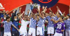 El momento de levantar la Copa del Rey.