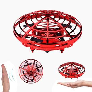 Mini drona OZN, disc zburator interactiv cu 5 senzori infrarosu, lumina LED