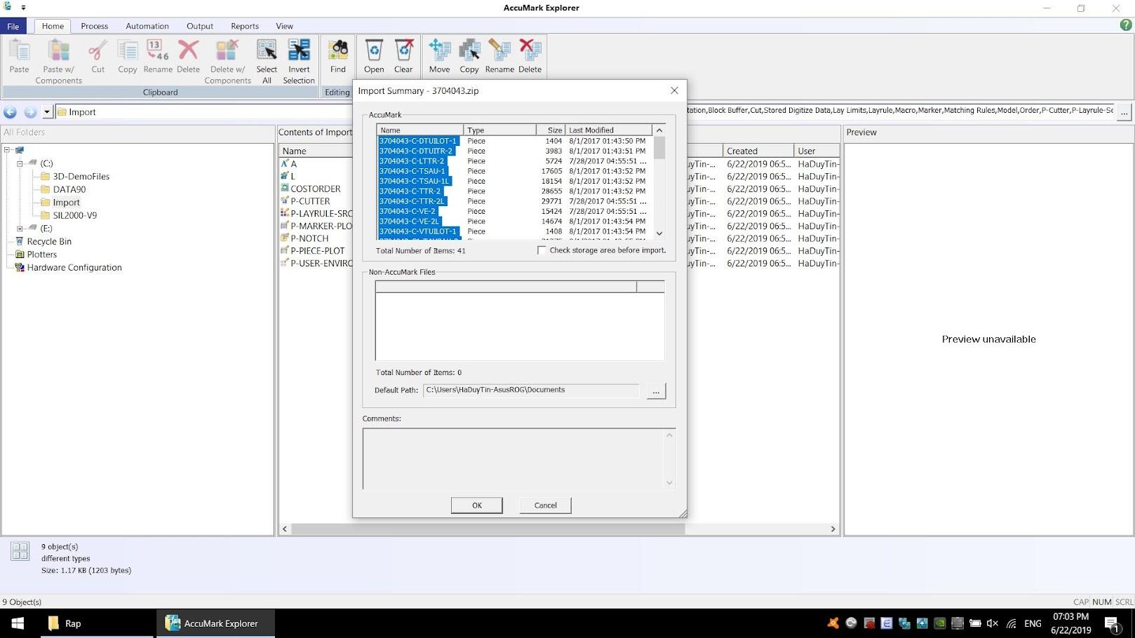 Hướng Dẫn Xử Lý Lỗi Error Unzipping File khi Import Zip Accumark Explorer 6