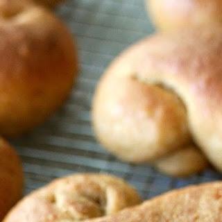 Whole Wheat Santa Lucia Buns.