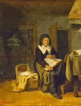 """Photo: Pieter Van Den Bos, """"Vecchia che legge un libro"""" (1650)"""