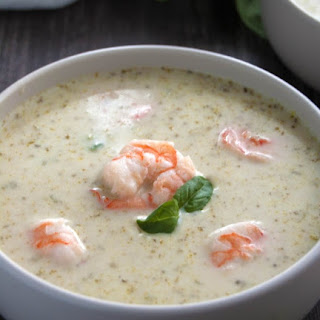 Pesto Shrimp Soup