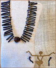 Photo: #190 CLEOPATRA ~ КЛЕОПАТРА Smoky quartz pendant, bamboo coral, hematite, silver plate $65/set SOLD