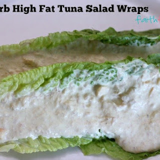 Low Carb Tuna Salad Wrap.