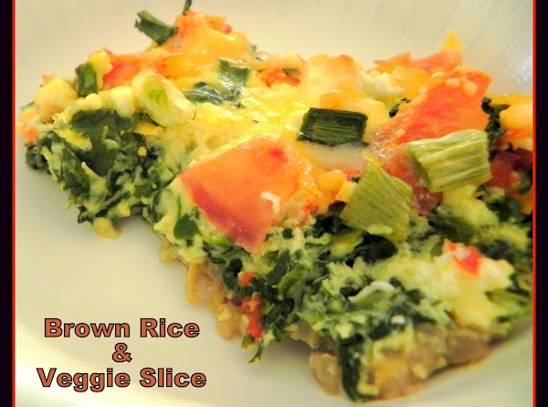 I served a side dish called http://www.justapinch.com/recipes/side/vegetable/brown-rice-and-veggie-slice.html?p=1 that I found here on Just a...