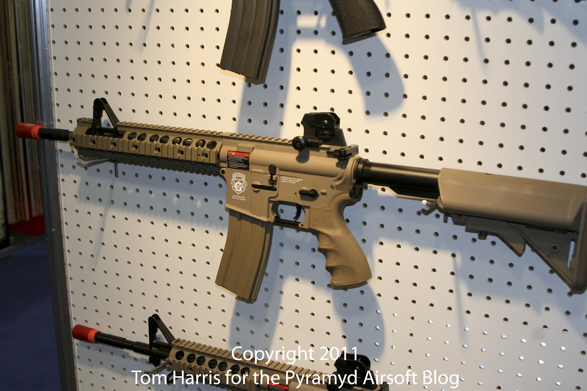 Airsoft Guns, G&G, Guay & Guay, Airsoft Shot Show 2011 News, GR15 Raider DST Tan Electric Blowback Series,Airsoft Automatic Electric Gun, Electric Blowback Rifle,Airsoft AEG, Airsoft EBBR,Pyramyd Air, Pyramyd Airsoft Blog, Airsoft Obsessed, Airsoft Blog,
