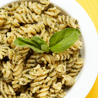 Creamy Pesto Pasta Salad.