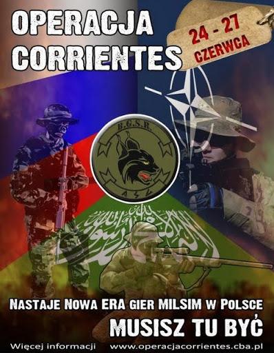 Oficjalny plakat Operacji Corrientes