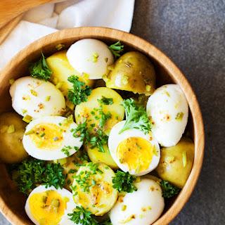 Potato Salad with 7-Minute Eggs and Mustard Vinaigrette Recipe