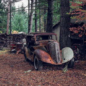 Old and Awesome by Earl Heister - Transportation Automobiles ( rust, rusty car, car, vintage, vintage auto, old car,  )