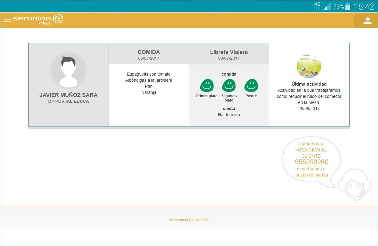 Serunion Educa- screenshot