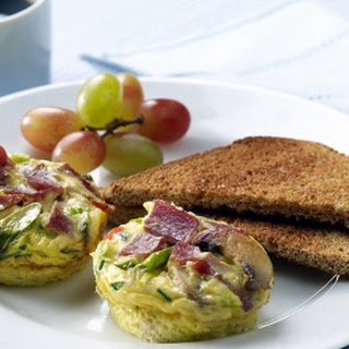 Veggie Frittata with Turkey Bacon