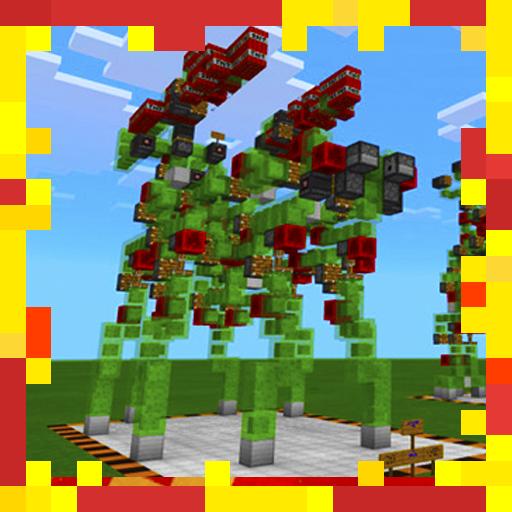 New Slime Block Robots Redstone MCPE map
