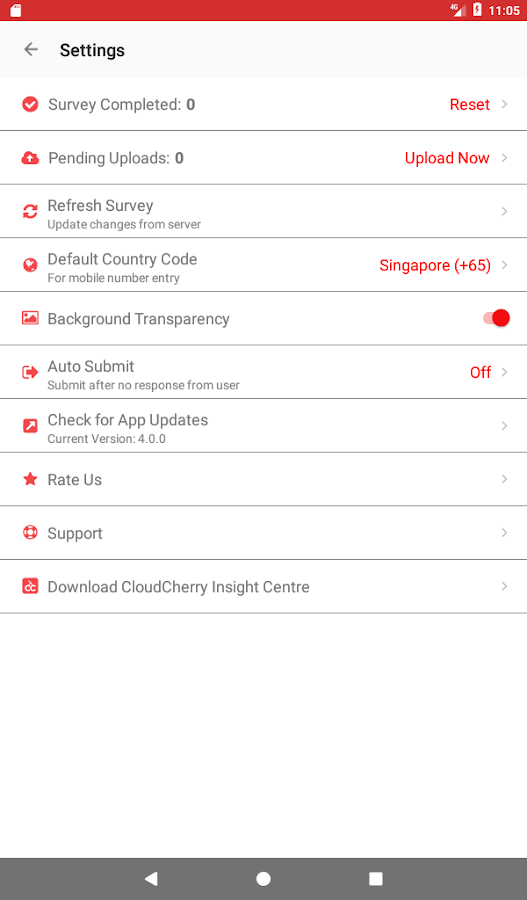 CloudCherry Customer Feedback- screenshot