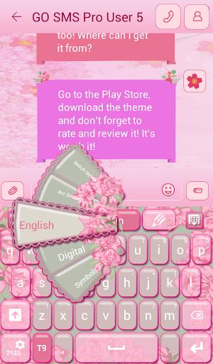 GO短信加强版的粉红色花朵