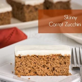 Skinny Carrot Zucchini Bars Recipe