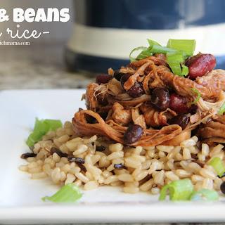 Pork & Beans over Rice