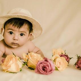 Hi by Jo Polyxromos - Babies & Children Babies ( love, girl, greece, baby girl, baby, portrait )