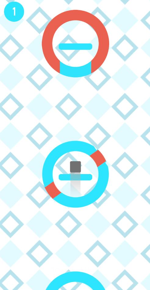 Скриншот ⭕ Spinning Circles Revolution Jumpy Square ⭕