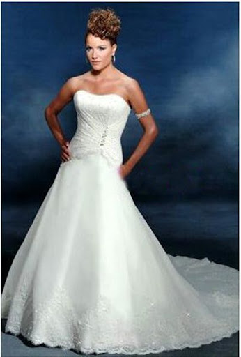 2009w134 ; Strapless Wedding Gown
