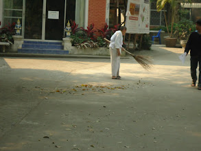 Photo: Sweeping leaves was required of us, preferably after breakfast and lunch. I loved it so much, I created a sweeping meditation (which I did for 90 minutes once).