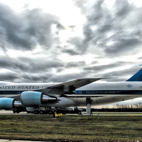 Air Force 1 by Tammy Hoeltke - Transportation Airplanes ( president, hdr, airplane, air force one, campaign, obama )