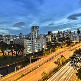 by Koh Chip Whye - City,  Street & Park  Night
