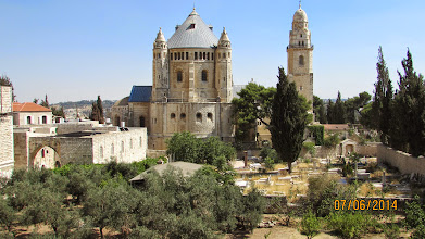 Photo: Abbey in the distance, greek orthodox cemetery in field