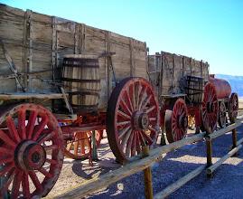 Photo: 20 mule team wagon, Harmony Borax Works
