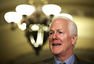 Photo: WASHINGTON, DC - JUNE 11:  Senate Minority Whip Senator John Cornyn (R-TX) speaks members of the media after a Republican Policy luncheon June 11, 2013 on Capitol Hill in Washington, DC. U.S. Senate Minority Leader Senator Mitch McConnell (R-KY) spoke on various topics including immigration reform.  (Photo by Alex Wong/Getty Images)
