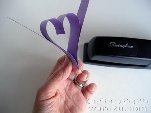 اصنع بنفسك قلوب من الورق للزينه