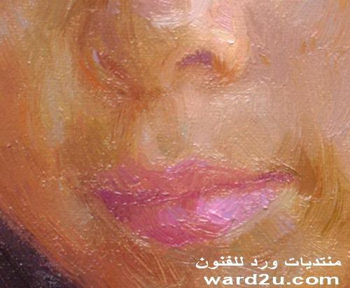 رسم بورتريه بالالوان الزيتيه خطوه بخطوه