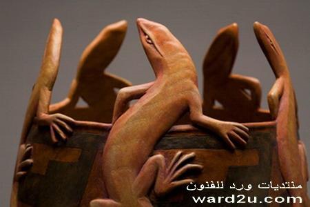 فازات تحف خشب نحت مجسم Ron Layport