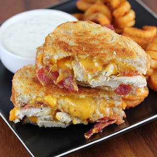 Chicken Bacon Ranch Grilled Cheese.