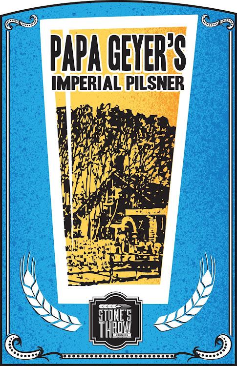 Logo of Stone's Throw Papa Geyer's Imperial Pilsner