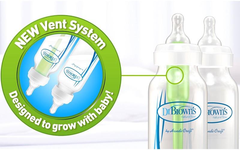 Bình sữa Dr Brown Option nhựa PP 150ml (cổ rộng)