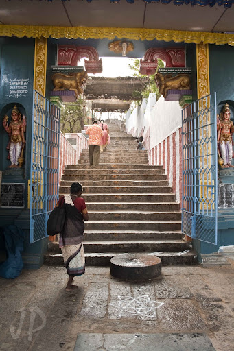 Temple Entrance to climb the hill