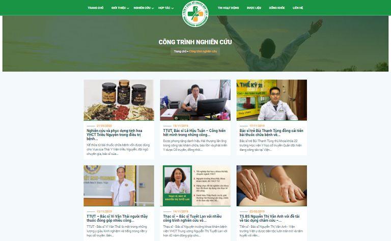 Chuyên mục Công trình nghiên cứu của website