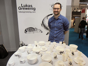 Photo: Lukas Grewenig - bottom weighted porcelain, collaboration with a tattoo artist... lukasgrewenig.com #ambiente14 #talents