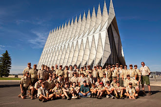 Photo: Group photo via stranger at AFA Cathedral