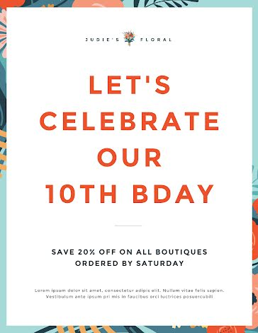 Birthday Sale - Birthday Template
