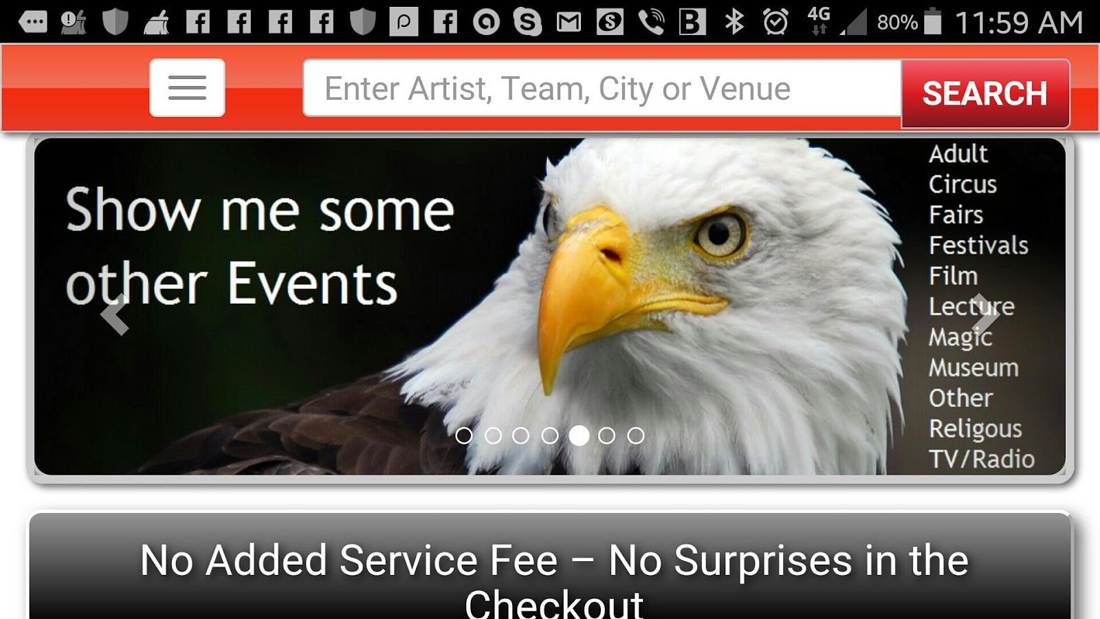 Event Tickets by TicketListers- screenshot