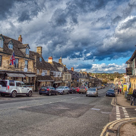 Cotswold  by Gjunior Photographer - City,  Street & Park  Historic Districts ( historic district, street, cloud formations, people, street photography )