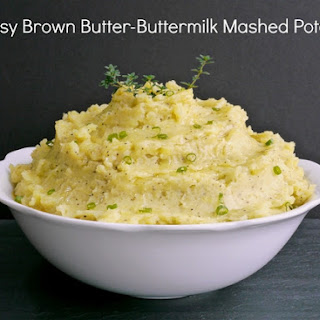 Cheesy Brown Butter-Buttermilk Mashed Potatoes.